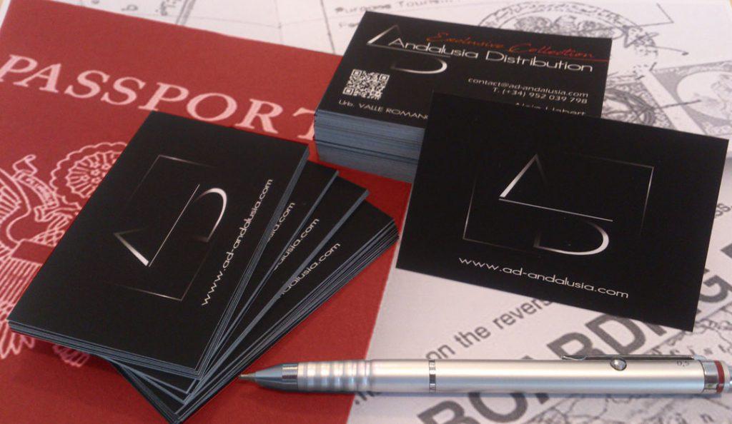 Cartes de visites de la société AD Andalusia