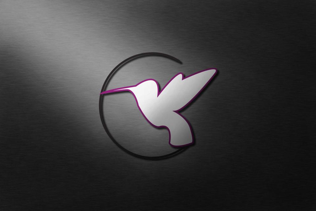 Logo d'un colibri pour un salon de thé