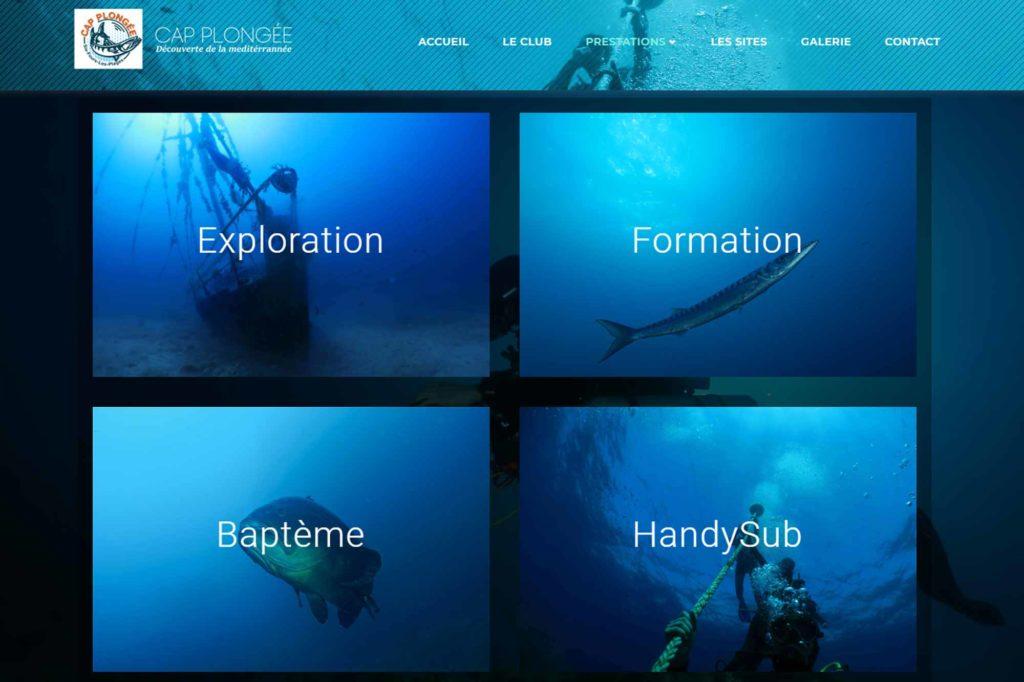 Site internet - Cap Plongée